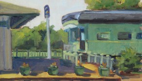 Collierville Depot Morning, 11x14