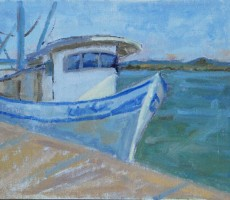 Seaside Shrimper 11x14