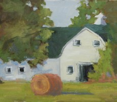 Remembering Schilling Farms Barn, 12x16