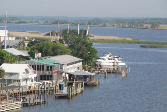 View of Apalachicola, FL, from the bridge