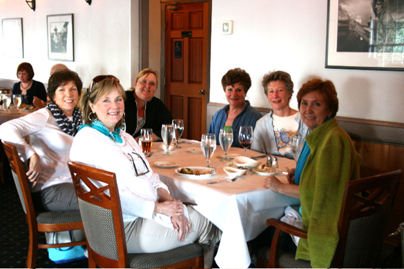 I know I mentioned the delicious seafood you can eat in this area - all fresh off the boats! Here we are dining at The Owl Cafe with other Memphis area friends who came to the event! Fun times!