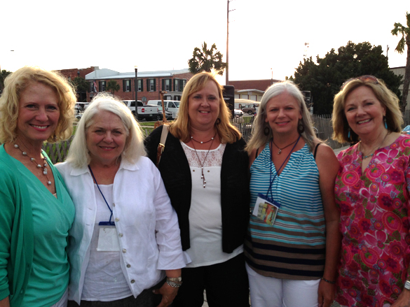 Another one of my favorite things at the event - hanging out with the other Tennessee artists! Pictured here (left to right) Betty Wentworth, Dawn Whitelaw, Me, Lori Putnam, and Judy Nocifora. We are enjoying our time at the Friday night Cocktail Party with music, food, drink, and friends!