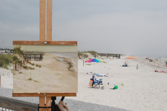 My last painting of the 10 day event was painted on a cloudy day at the state park on St. George Island.