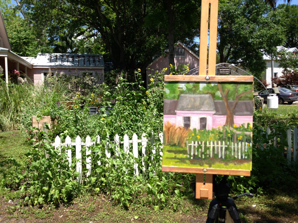 Another one of my paintings during the event. There are TONS of cute little cottages and homes in the area and all just are screaming to be painted!