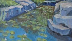 Garden Lilies, 18x24